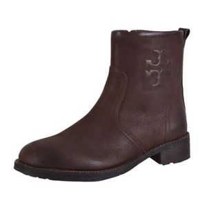 tory burch brown ankle booties